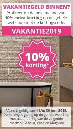 Vakantiegeld 2019 10% korting
