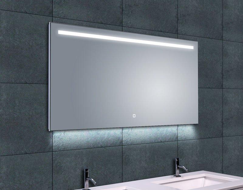 Wiesbaden verwarmde spiegel met led verlichting